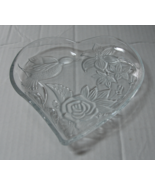 Cut Glass Heart Shaped Dish - $4.50
