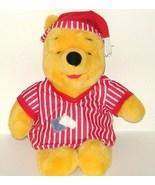 1/2 off! Disney Winnie the Pooh in Striped Pajamas Plush 1998 - $5.00