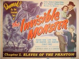 THE INVISIBLE MONSTER, 12 CHAPTER SERIAL - $19.99