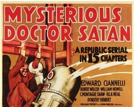 MYSTERIOUS DOCTOR SATAN, 15 CHAPTER SERIAL, 1940 - $19.99