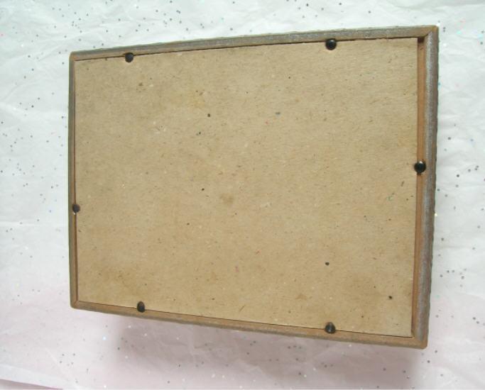 Sillouette & Mirror Lid - Wood Keepsake Box - Older / Vintage Unusual & Unique