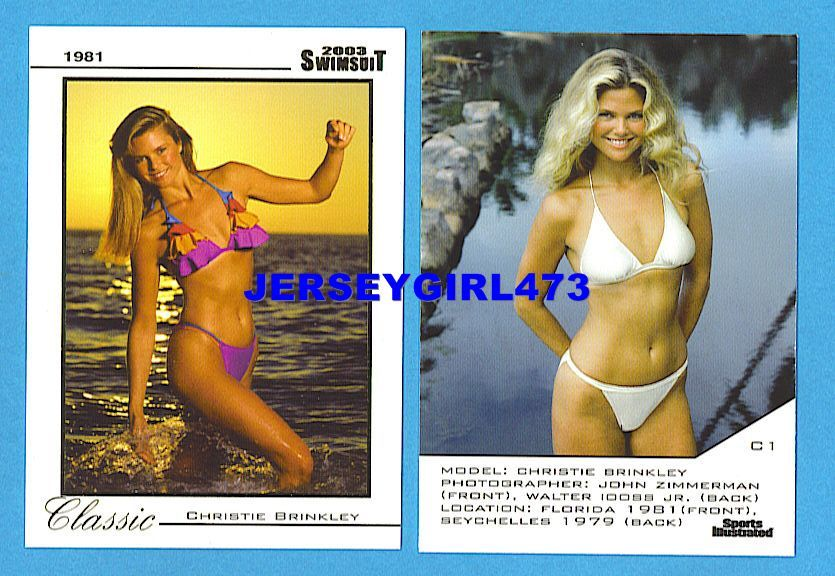 Christie Brinkley 2003 Sports Illustrated SI Swimsuit Classic Insert Card