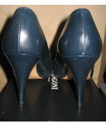 Chantal Italian-made Leather Open-toed Pump in Navy, 6 1/2 B - $77.90