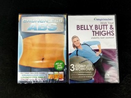Crunchless Abs 1-3 & Weight Watchers Belly, Butt & Thighs Workout DVDs B... - $16.82