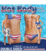 Hot Body Pool Float Patriotic 2 Sided  Inflatable Ocean Beach Double 6 F... - $69.99