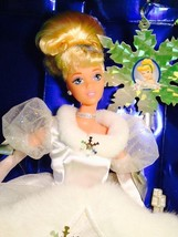 Mattel DisneyHoliday Cinderella Barbie Doll Vintage Holiday Ornament - $11.30