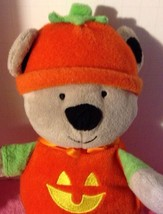 Carter's Just One You Halloween Pumpkin Bear Rattle Jack O Lantern Plush... - $13.32