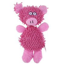 (pink size M)Animal Shape Pet Dog Funny Playing Toy Pet Cat Lovely Voice... - $16.00
