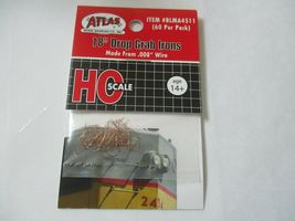"""Atlas # BLMA4511 Drop Grab Iron 18"""" .008 Wire 60 Per Pack HO-Scale image 6"""