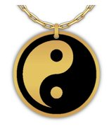 Yin Yang Laser Engraved Round Pendant Necklace - Stainless Steel or 18K ... - $29.69