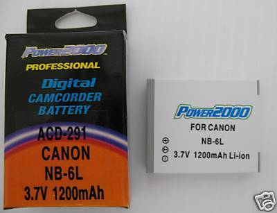 NB-6L NB6L Battery for Canon 2607B001 PC1355 PC-1355 SX700 HS