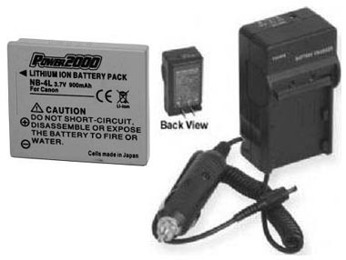 TWO 2 Batteries + Charger for Canon Digital IXUS 70 75 IXUS70 IXUS75 220 230 HS