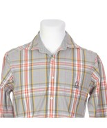 Psycho Bunny Multicolor Plaid Button Down Casual Dress Shirt Mens Small - $34.48