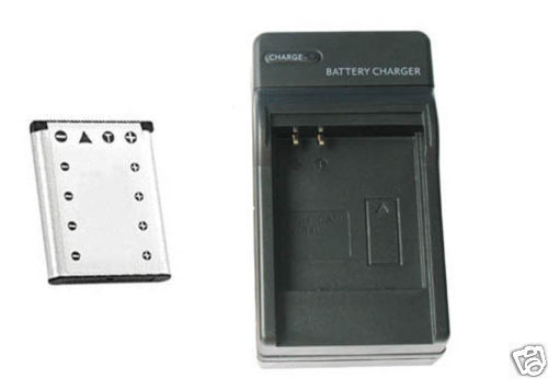 Battery + Charger for Casio EX-Z280 EX-Z33BK EX-Z33BE EX-ZS5EO EX-G1 EX-G1BK