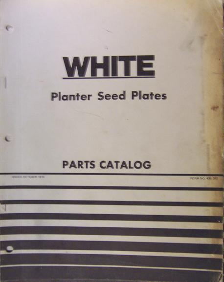 White Planter Seed Plates Parts Manual