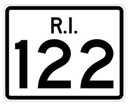 Rhode Island State Road 122 Sticker R4256 Highway Sign Road Sign Decal - $1.45+