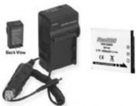 Battery + Charger for Casio EX-Z80BK EX-Z80GN EX-Z80VP EXS10RD EXS10SR E... - $12.02
