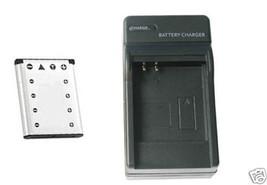 Battery + Charger for Casio EXZ35BK EXZ35PE EXZ35PK EX-Z550SR - $19.37