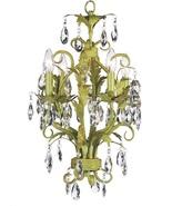 Elegant Rustic  Green Scroll Work Chic Shabby Crystal Drop  Chandelier - $899.00