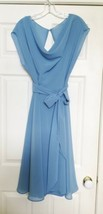 After Six Bridesmaid Dress Style 6661 Sz 14 Windsor Blue Dessy Collection Lined image 1