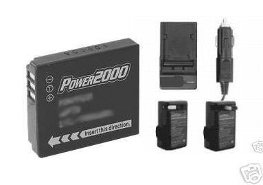 TWO 2 Batteries + Charger for Panasonic DMC-FX01EF-K DMC-FX01EF-S DMC-FX01EF-W
