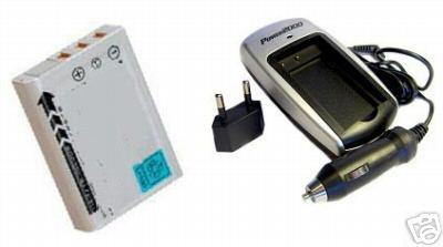 Battery + Charger for Fuji FujiFilm Real 3D W1 3DW1