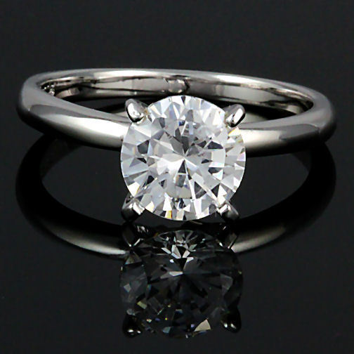 8mm 2.0c Russian Ice CZ Bridal Engagement Band Ring s 6
