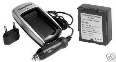 TWO Batteries + Charger for Hitachi DZ-HS303 DZ-HS401 DZ-HS403 DZ-HS500 DZ-HS503