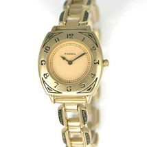 Fossil Watch Womens Stainless Steel Gold Water Resist Easy Read Battery ... - $33.46