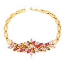 U7 Luxury Zirconia Bracelet Women Gift Trendy Gold/Silver Color Colorful... - $20.28