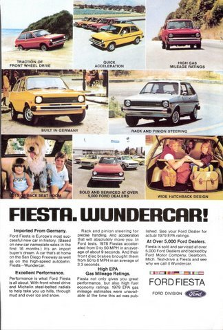 1978 Ford Fiesta Wundercar Germany Imported print ad