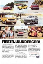 1978 Ford Fiesta Wundercar Germany Imported print ad - $10.00
