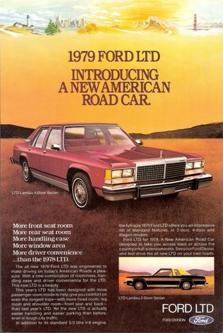 1979 Ford LTD Landau 4-Door Sedan Road Car print ad