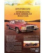 1979 Ford LTD Landau 4-Door Sedan Road Car print ad - $10.00