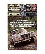 1977 Ford Granada Ess. Mercedes-Benz look-alike print ad - $10.00