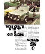 1980 Volkswagen Rabbit police car & officer print ad - $10.00