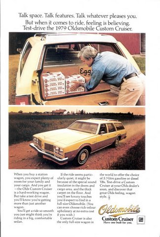 1978 Oldsmobile Custom Cruiser wagon magazine print ad