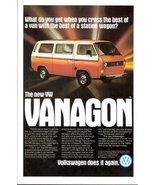 1980 Volkswagen New VW Vanagon magazine print ad - $10.00