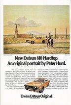 1973 Datsun 610 Hardtop Peter Hurd artwork print ad - $10.00