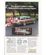 1979 Oldsmobile cutlass Cruiser Diesel Wagon print ad - $10.00