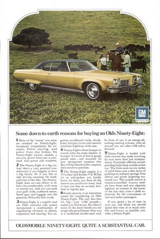 1972 Oldsmobile Olds Ninety Eight 98 cowboy print ad