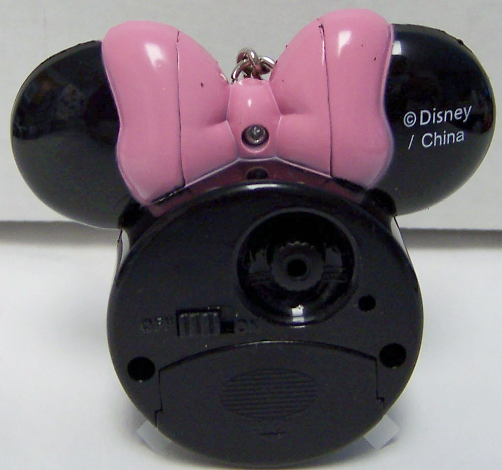 DISNEY MINNIE MOUSE MOUSE ICON CLOCK ON KEYCHAIN NEW