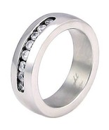 Couples Stainless Steel Russian CZ Wedding Band Ring 12 - $18.00