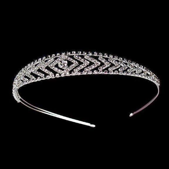 Graduated Chevrons Swarovski Austrian Crystal Headband