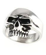 Keith Richards Stainless Steel Rocker Skull Ring sz 14 - $16.00