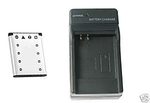 Battery +Charger for Olympus FE-350 FE350 FE3000 FE3010