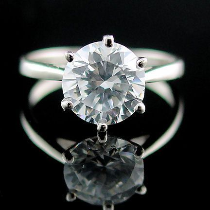 Large 2.9ct Ice on Fire CZ Cocktail-Engagement Ring 5