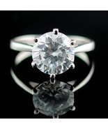 Large 2.9ct Ice on Fire CZ Cocktail-Engagement Ring 5 - $24.00