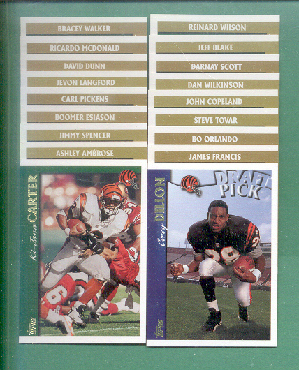 1997 Topps Cincinnati Bengals Football Set