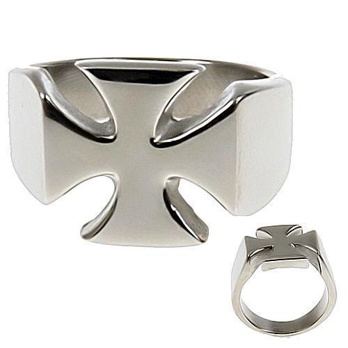 Mens 316L Stainless Steel Maltese Iron Cross Ring s 15
